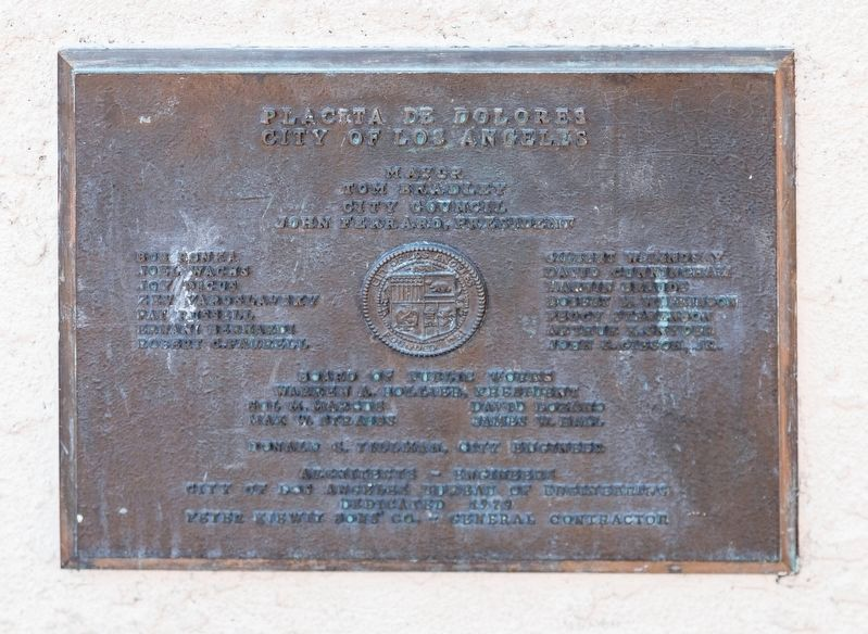 Placeta de Dolores, City of Los Angeles image. Click for full size.