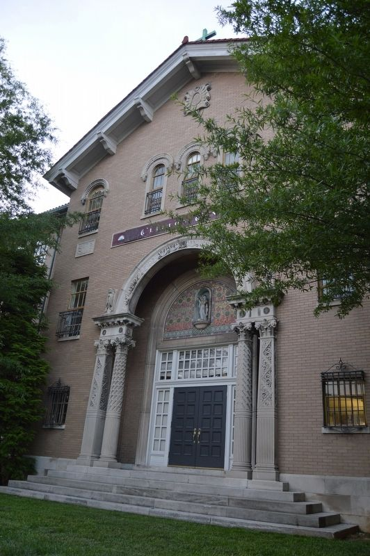 Entrance to St. Frances of Rome School image. Click for full size.