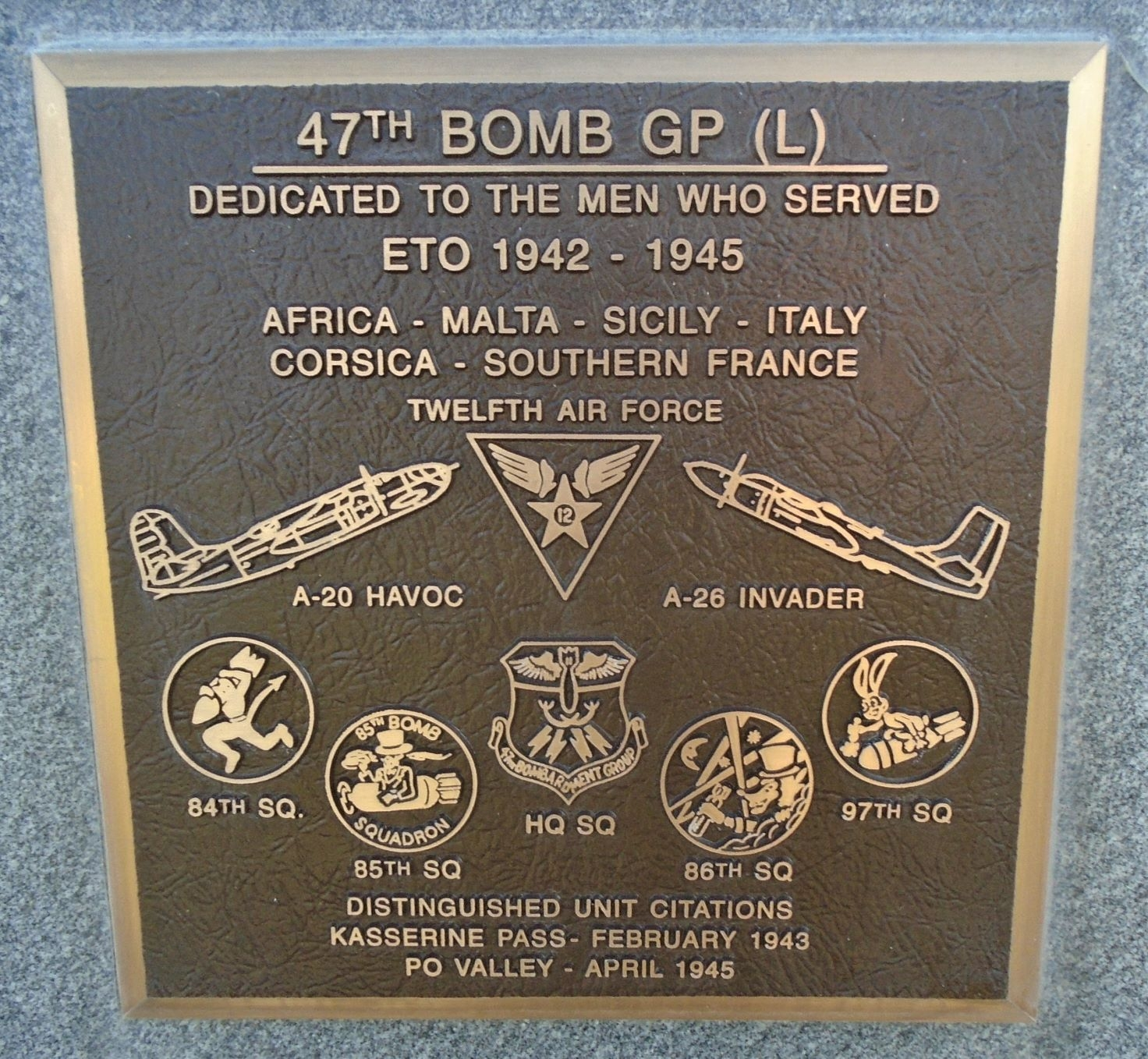 47<sup>th</sup> Bomb Group (L) Marker
