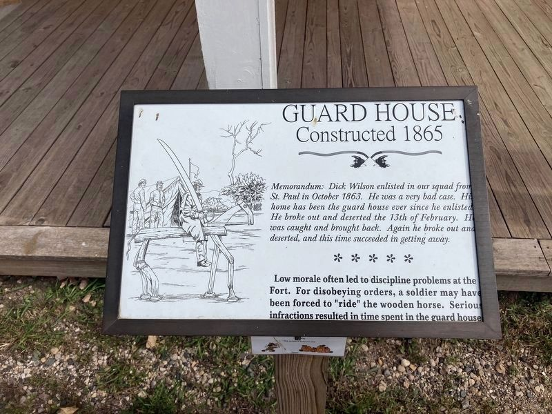 Guard House Marker (replacement marker) image. Click for full size.