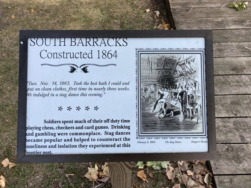 South Barracks Marker (Updated Marker). image. Click for full size.