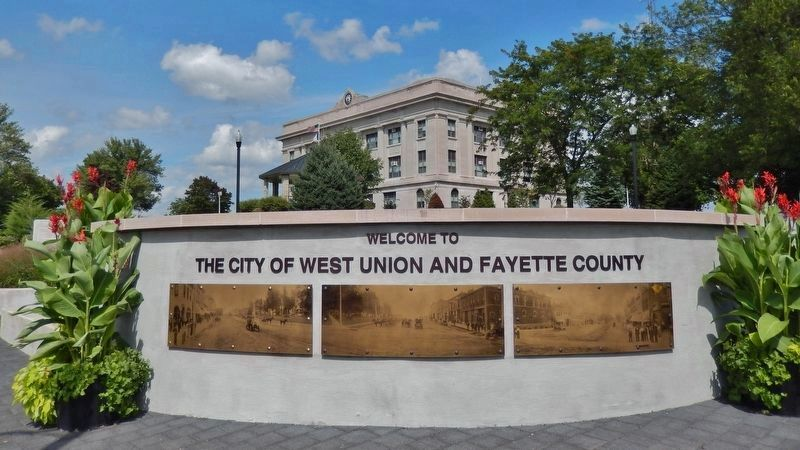 Welcome to West Union and Fayette County image. Click for full size.