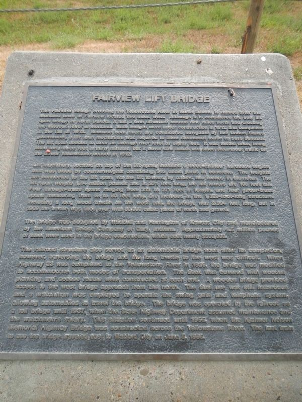 Fairview Lift Bridge Marker image. Click for full size.