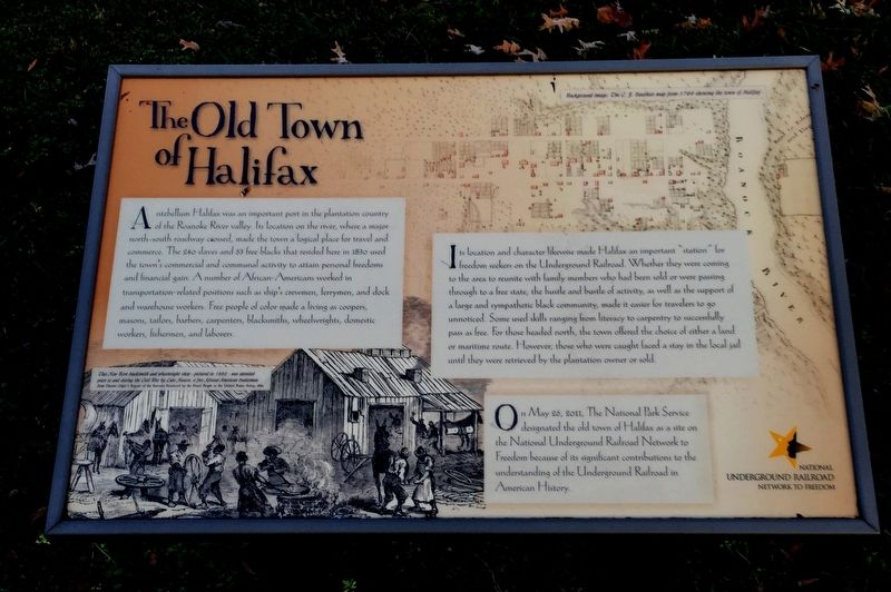 The Old Town Of Halifax Marker image. Click for full size.