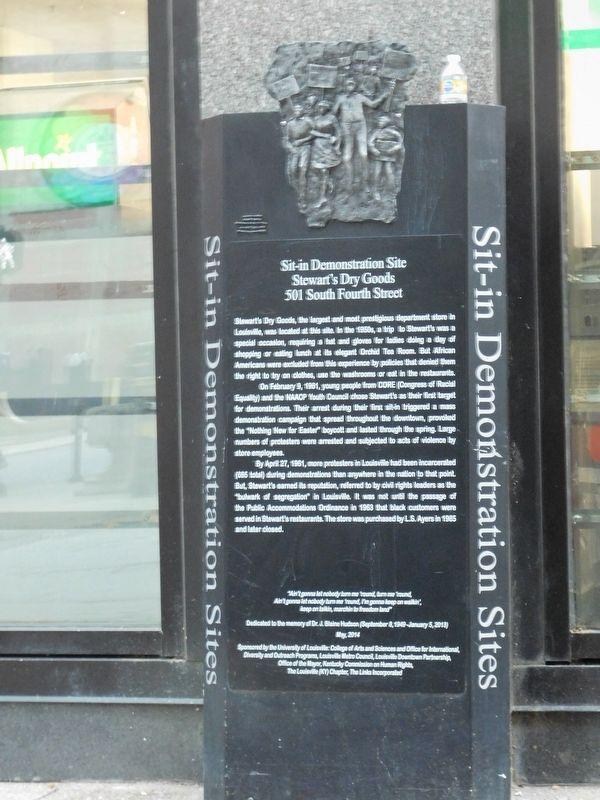 Sit-in Demonstration Site Marker image. Click for full size.