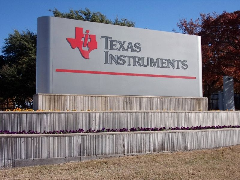 Texas Instruments entrance sign image. Click for full size.