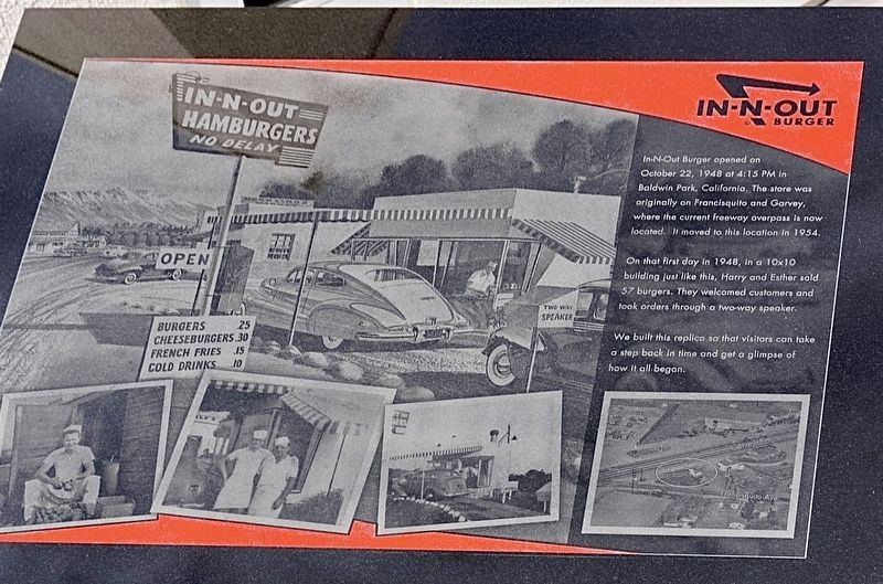 In-N-Out Burger Replica Marker image. Click for full size.