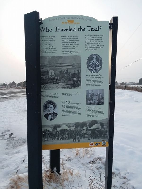 Who Traveled The Trail? Marker image. Click for full size.