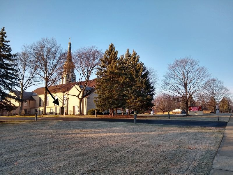Nardin Park United Methodist Church and Marker image. Click for full size.