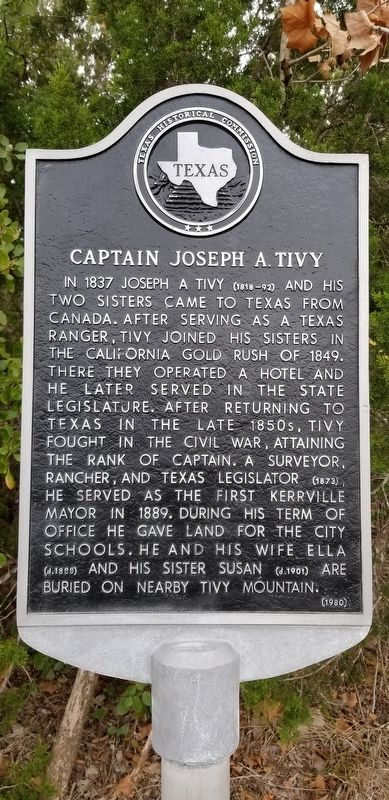 Captain Joseph A. Tivy Marker image. Click for full size.