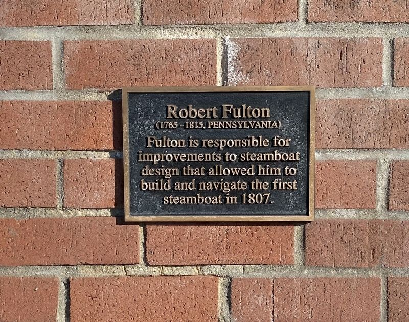 Robert Fulton Marker image. Click for full size.