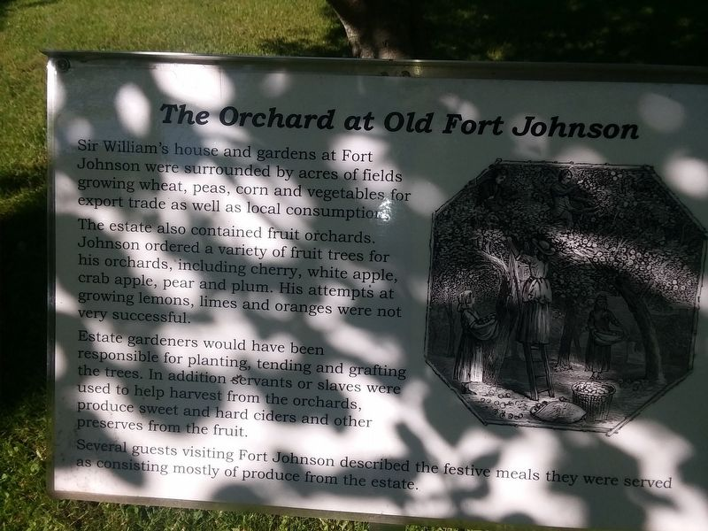 The Orchard at Old Fort Johnson Marker image. Click for full size.