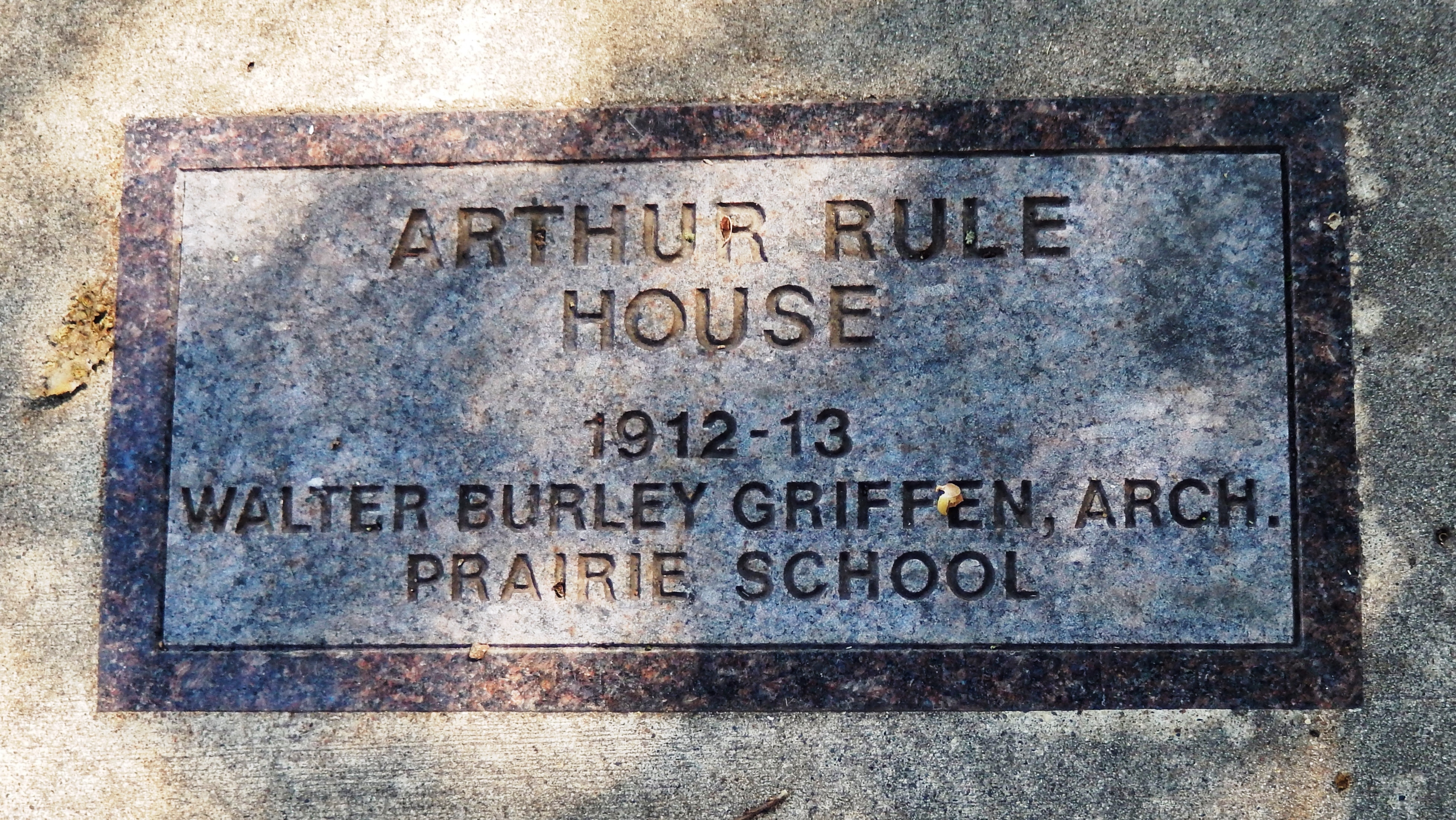 Arthur Rule House Marker