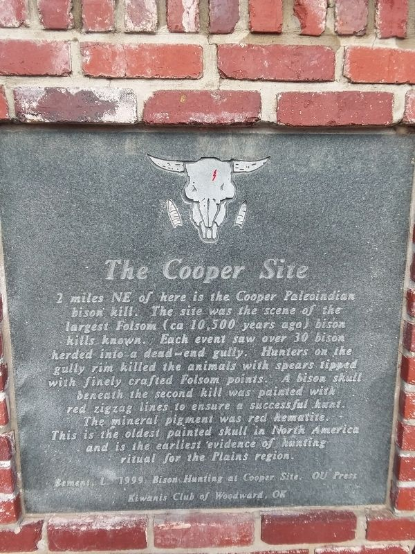 The Cooper Site Marker image. Click for full size.