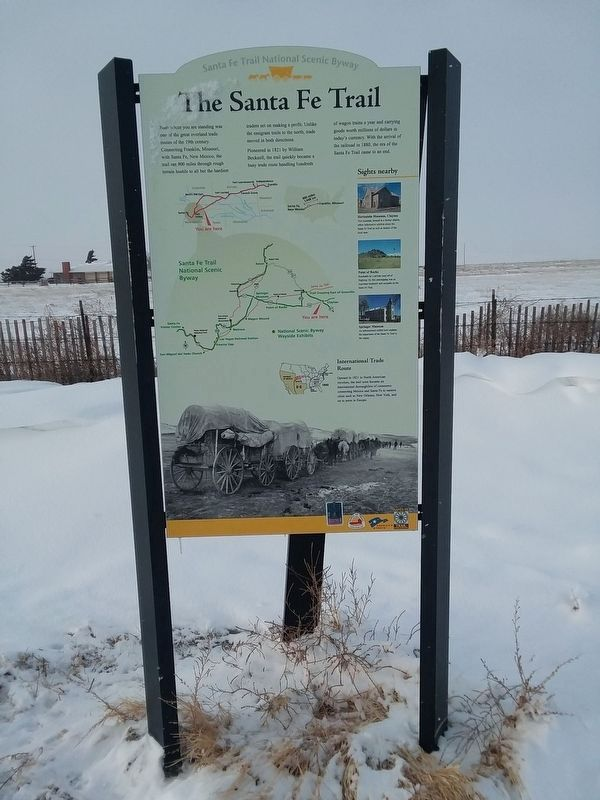The Santa Fe Trail Marker image. Click for full size.
