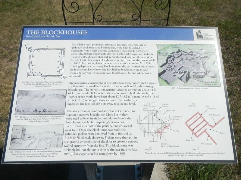 The Blockhouses Marker image. Click for full size.