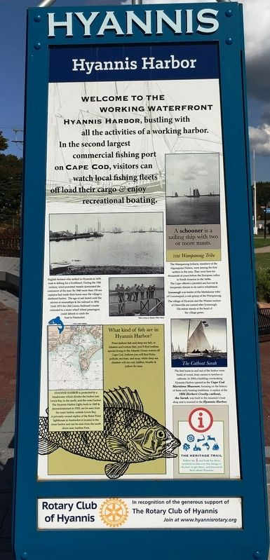 Hyannis Harbor Marker image. Click for full size.