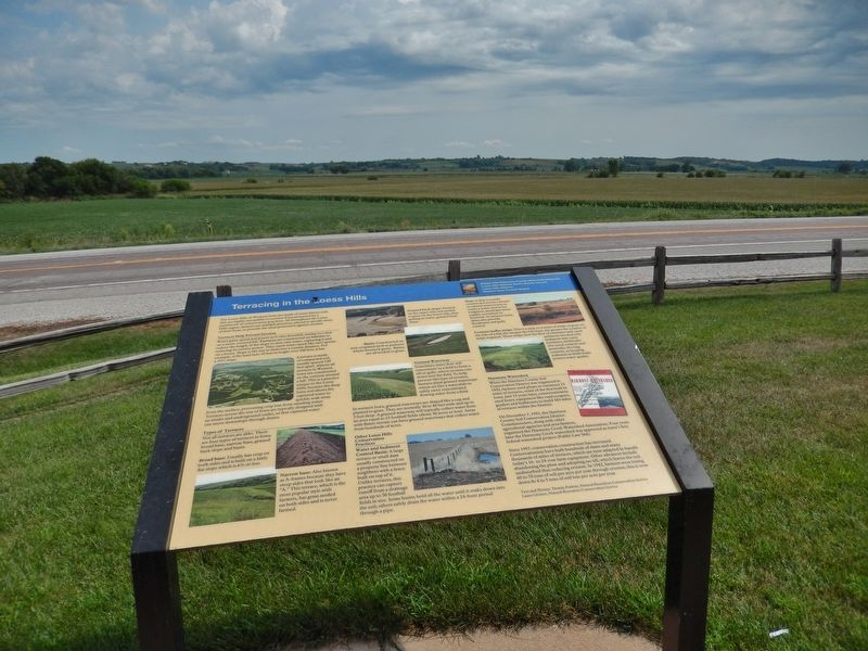 Terracing in the Loess Hills Marker image. Click for full size.