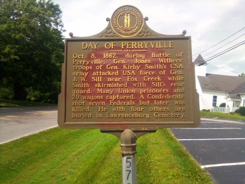 Day Of Perryville Marker image. Click for full size.