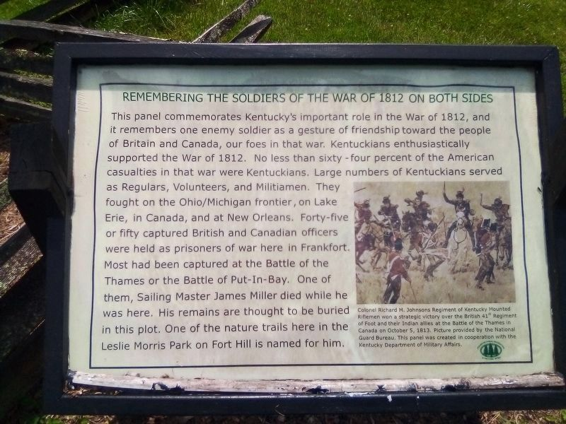 Remembering the Soldiers of the War of 1812 on Both Sides Marker image. Click for full size.