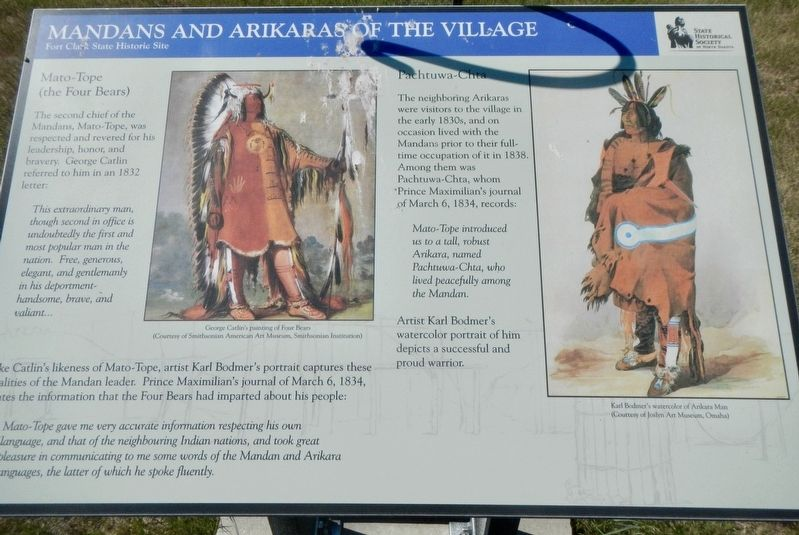 Mandans and Arikaras of the Village Marker image. Click for full size.
