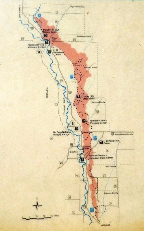 Marker detail: Loess Hills<br>/ Missouri River Valley image. Click for full size.