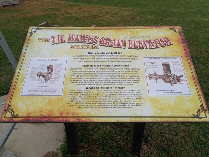 The J.H. Hawes Grain Elevator Museum Marker image. Click for full size.