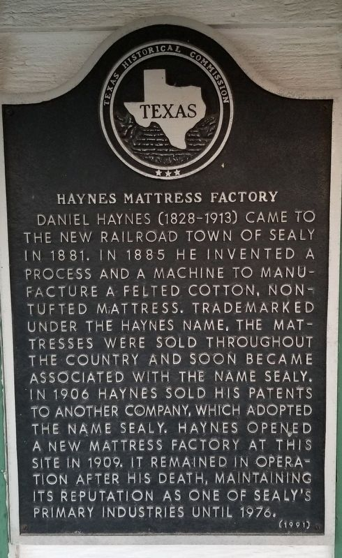 Haynes Mattress Factory Marker image. Click for full size.
