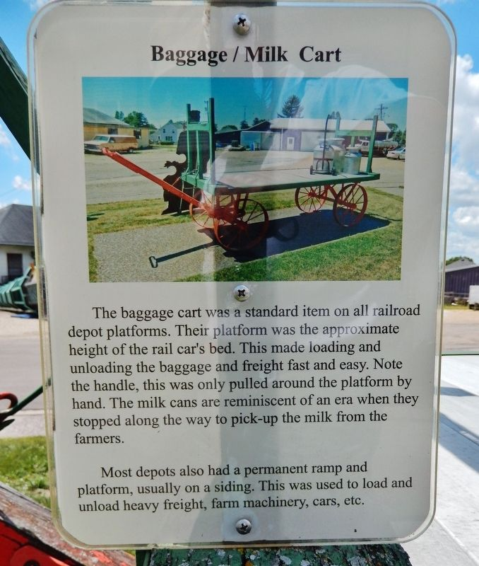 Baggage / Milk Cart Marker image. Click for full size.