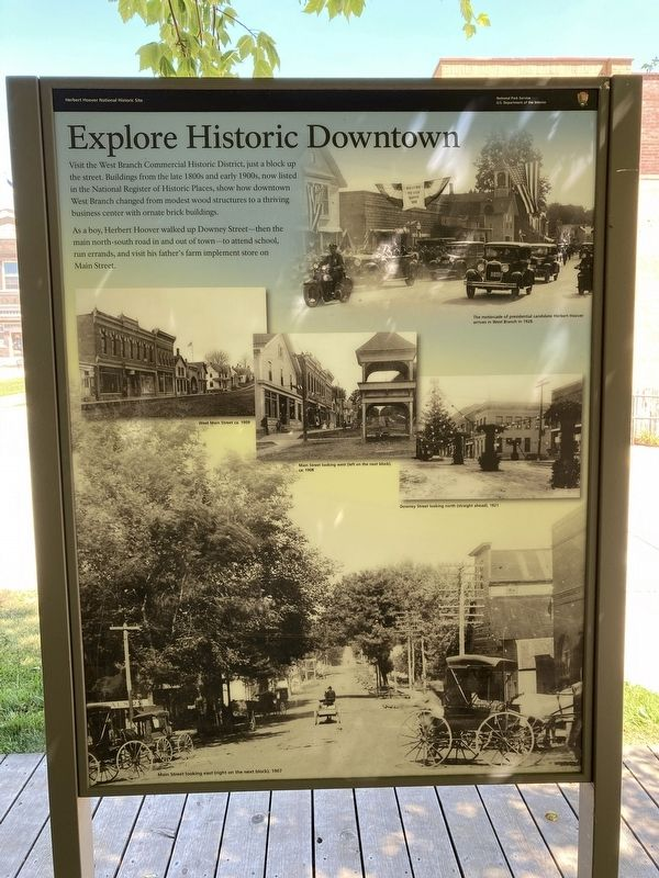 Explore Historic Downtown Marker image. Click for full size.