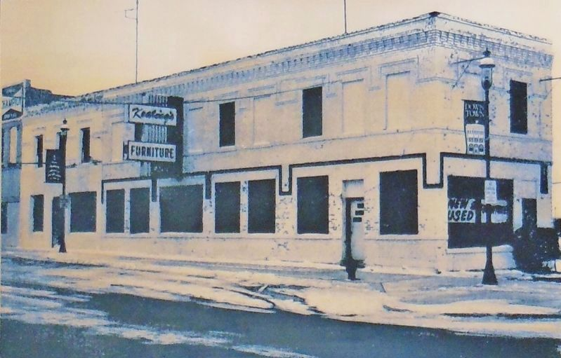 Marker detail: Keating's Furniture Annex image. Click for full size.