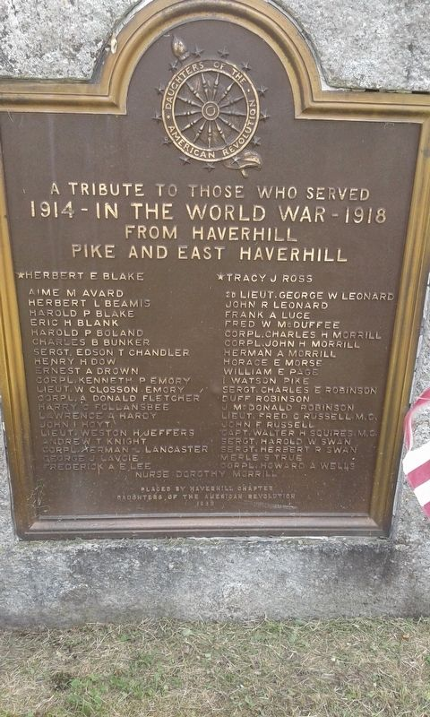 Haverhill World War Memorial image. Click for full size.