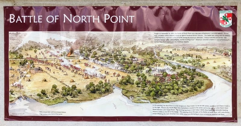 North Point State Park - Sept. 12, 1814 Battlefield Marker image. Click for full size.