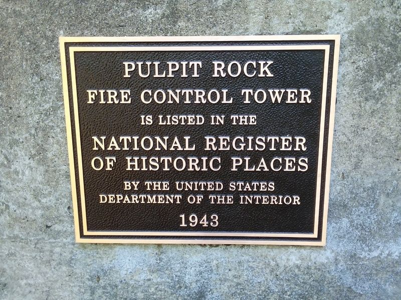 Pulpit Rock Fire Control Tower Marker image. Click for full size.