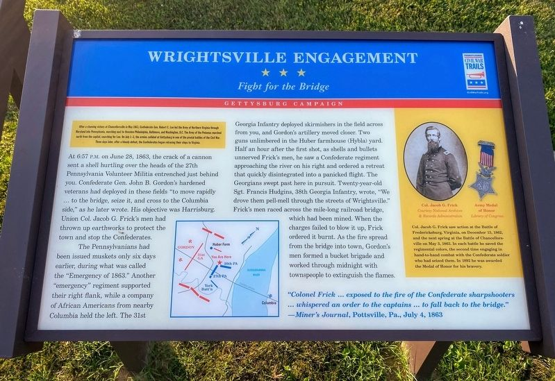 Wrightsville Engagement Marker image. Click for full size.