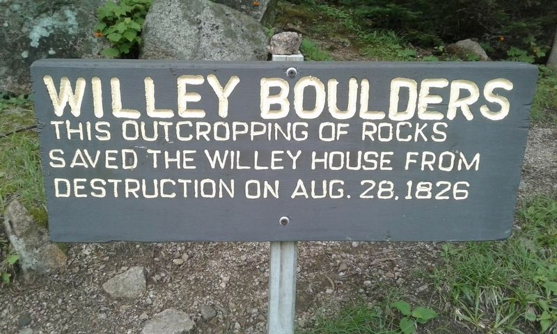Willey Boulders Marker image. Click for full size.