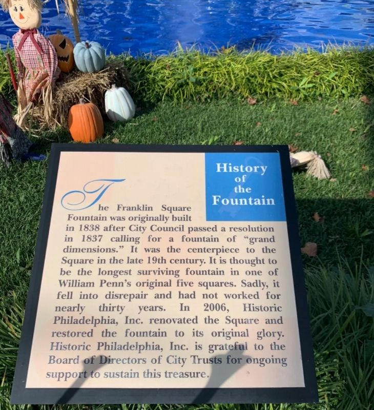 Franklin Square Fountain Marker image. Click for full size.