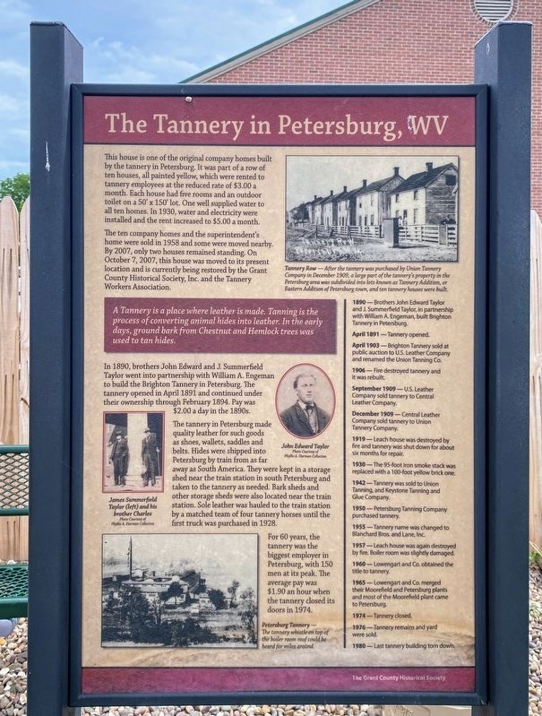 The Tannery in Petersburg, WV Marker image. Click for full size.