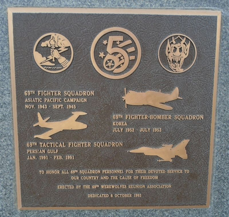 69th Fighter/Fighter-Bomber/Tactical Fighter Squadron Marker image. Click for full size.