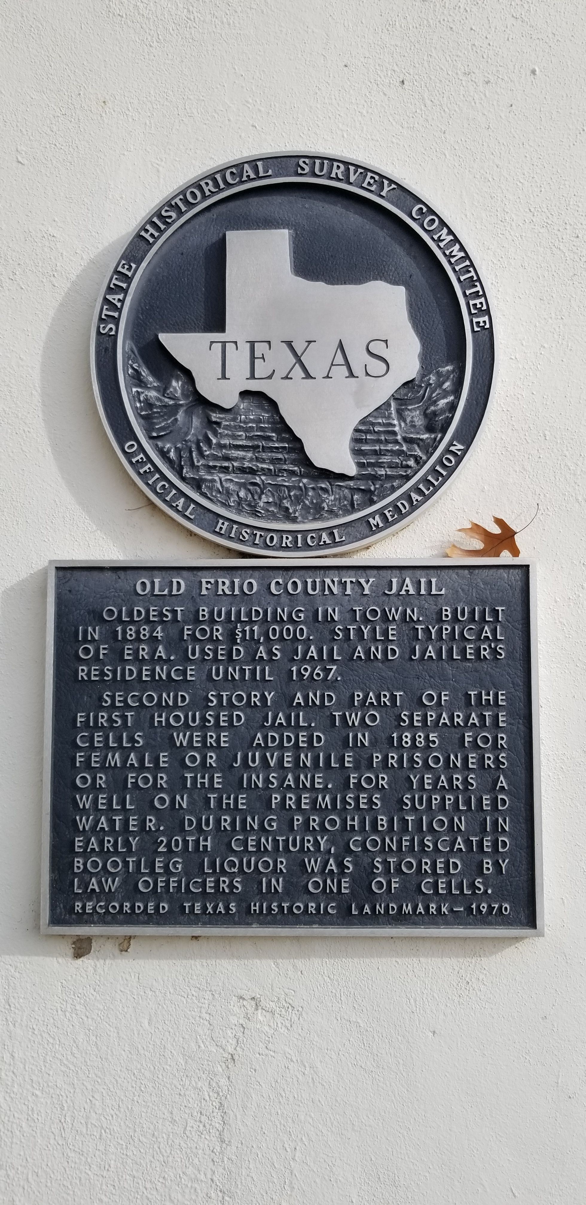 Old Frio County Jail Marker