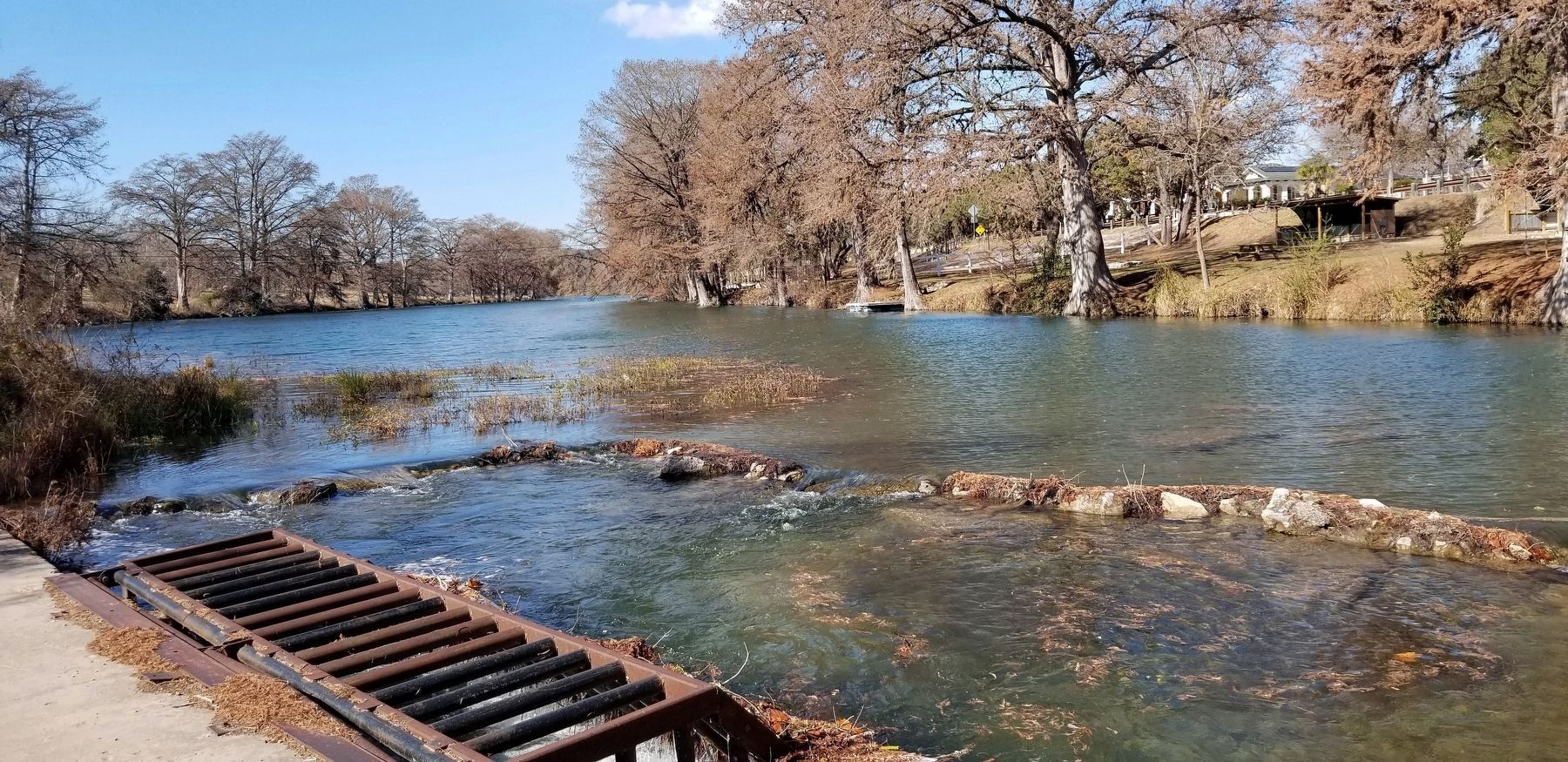 The Guadalupe River is located across the street from the marker image. Click for full size.