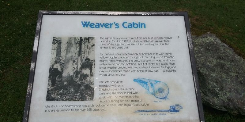 Weavers Cabin Marker image. Click for full size.
