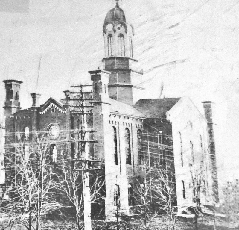 Marker detail: Allen County Courthouse, circa 1890s image. Click for full size.
