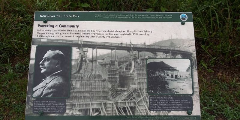 Powering a Community Marker image. Click for full size.