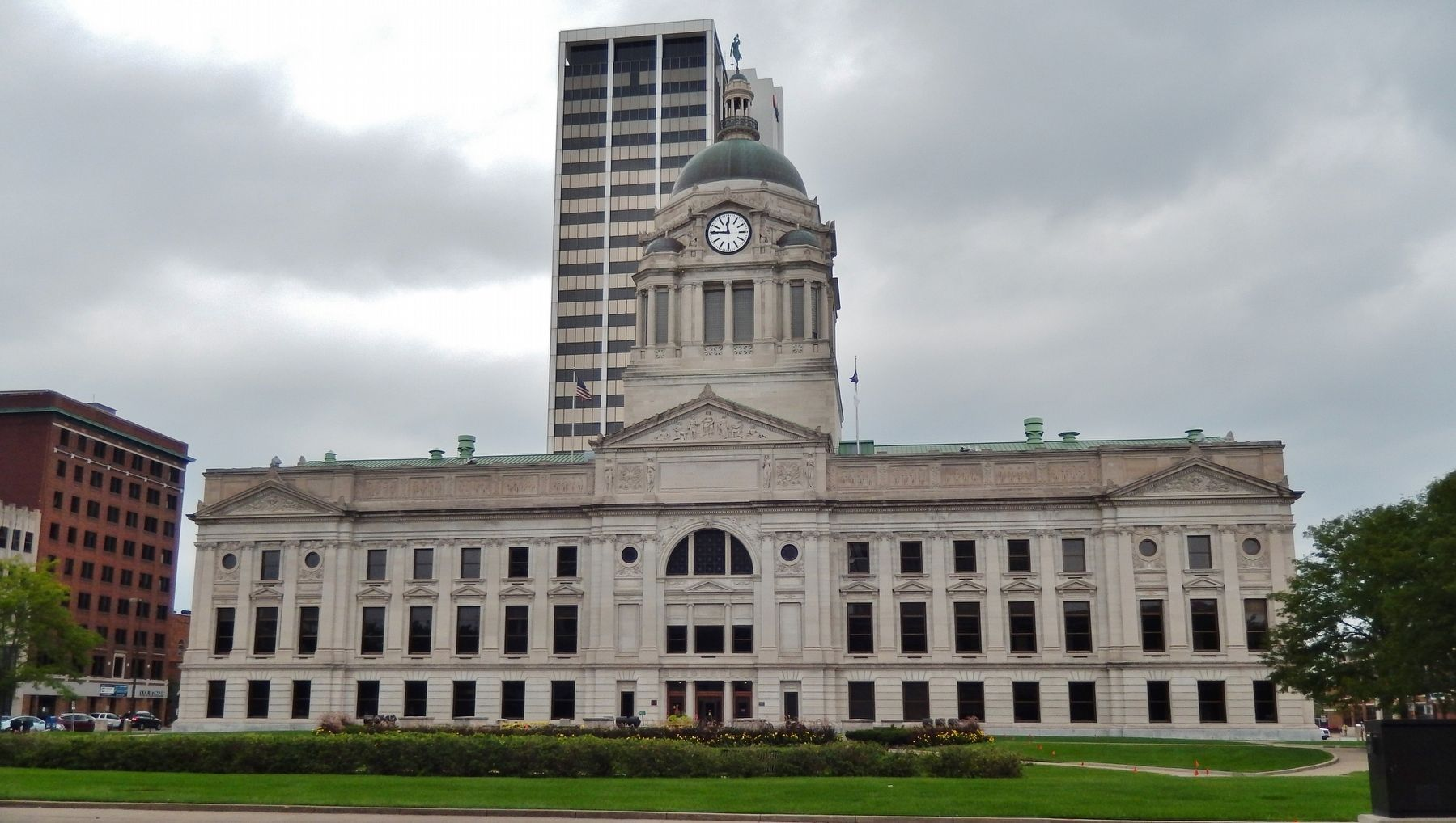 The Allen County Courthouse <center>(<i>west elevation</i>)</center> image. Click for full size.