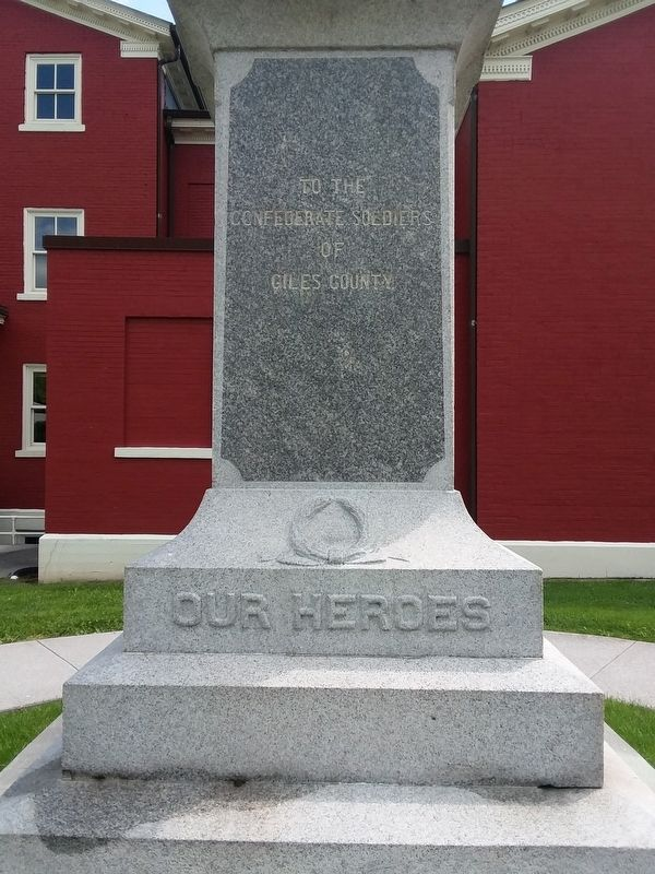 Giles County Confederate Memorial image. Click for full size.