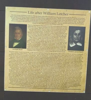 Life after William Letcher Marker image. Click for full size.