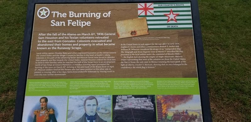 The Burning of San Felipe Marker image. Click for full size.