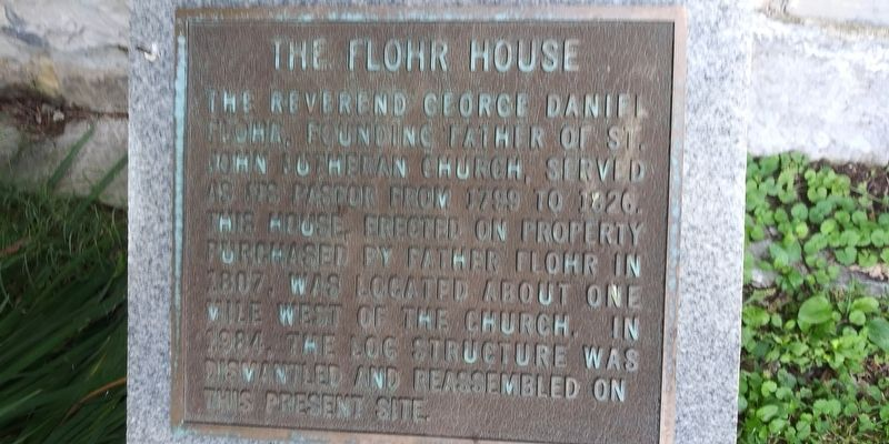 The Flohr House Marker image. Click for full size.