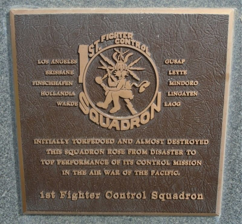 1st Fighter Control Squadron Marker image. Click for full size.